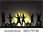 halloween party background. | Shutterstock .eps vector #485179738