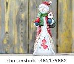 Ceramic Snowman Doll