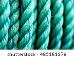 close up of nautical rope used... | Shutterstock . vector #485181376