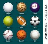 vector sports balls for... | Shutterstock .eps vector #485181466