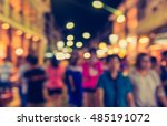vintage tone blur image of... | Shutterstock . vector #485191072