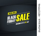 black friday sale. special... | Shutterstock .eps vector #485199946