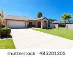 suburban australian house front ... | Shutterstock . vector #485201302