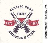 classic guns print  logo ... | Shutterstock .eps vector #485207695