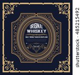 whiskey label with old frames | Shutterstock .eps vector #485215492