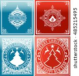 christmas cards set. | Shutterstock .eps vector #485215495