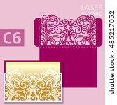 laser cut wedding invitation... | Shutterstock .eps vector #485217052