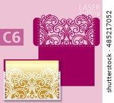 laser cut wedding invitation...   Shutterstock .eps vector #485217052