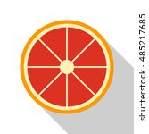 grapefruit flat icon. you can...