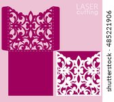 die laser cut wedding card... | Shutterstock .eps vector #485221906
