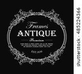 vintage frame hand drawn... | Shutterstock .eps vector #485224366