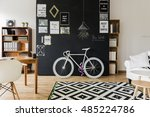 modern designed room with a... | Shutterstock . vector #485224786