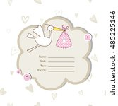 cute baby shower invitation... | Shutterstock .eps vector #485225146