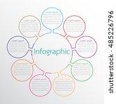 vector infographic templates... | Shutterstock .eps vector #485226796