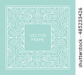 vector geometric frame with... | Shutterstock .eps vector #485233426
