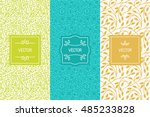 vector set of packaging design... | Shutterstock .eps vector #485233828