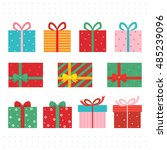 set of colorful  gift boxes. | Shutterstock .eps vector #485239096