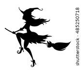 Silhouette Of A Young Witch On...