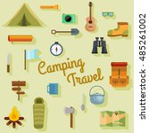 camping travel vector set of... | Shutterstock .eps vector #485261002
