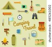 camping travel vector set of... | Shutterstock .eps vector #485261002