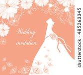 wedding dress. wedding... | Shutterstock . vector #485263345