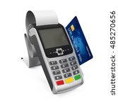 point of sale terminal. 3d... | Shutterstock . vector #485270656