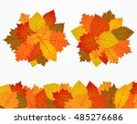 colorful autumn foliage banners.... | Shutterstock .eps vector #485276686