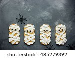 Mummy Cookies For Halloween...