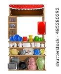 crockery shop | Shutterstock . vector #485280292