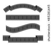 film strip frame four set.... | Shutterstock .eps vector #485281645