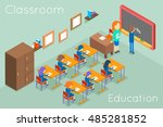 school classroom education... | Shutterstock .eps vector #485281852