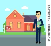 real estate realtor on the... | Shutterstock . vector #485281996