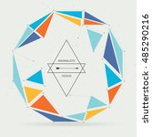 geometric modern connected... | Shutterstock .eps vector #485290216