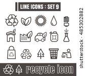 line icons black set 9.... | Shutterstock .eps vector #485302882