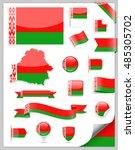 belarus flag set   vector... | Shutterstock .eps vector #485305702