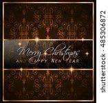 christmas vintage classic... | Shutterstock .eps vector #485306872