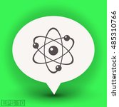 pictograph of atom | Shutterstock .eps vector #485310766