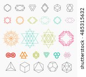 set of geometric icons.... | Shutterstock .eps vector #485315632
