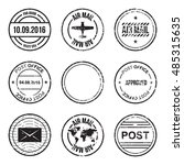 set of post mark  stamps.... | Shutterstock .eps vector #485315635