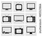 tv icons set | Shutterstock .eps vector #485315866