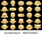 label gold vector icon set on... | Shutterstock .eps vector #485316862