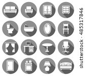 furniture decorative icons set. ... | Shutterstock .eps vector #485317846