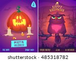 halloween illustration owl on a ...   Shutterstock .eps vector #485318782
