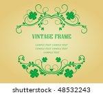 floral vintage frames with...