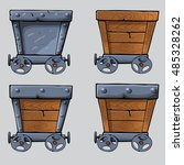 wooden mine cart set