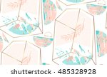 hand drawn vector abstract... | Shutterstock .eps vector #485328928