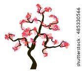 sakura blossom isolated on... | Shutterstock .eps vector #485330566