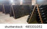 champagne bottles being kept... | Shutterstock . vector #485331052