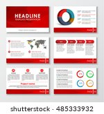 templates for web presentation... | Shutterstock .eps vector #485333932