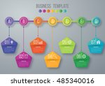 timeline infographics template. ... | Shutterstock .eps vector #485340016